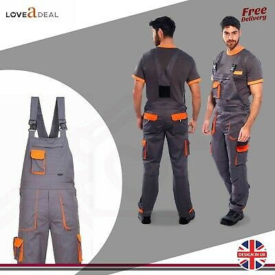 Portwest Heavy Duty Texo Bib and Brace Contrast Painters Overall Coverall TX12