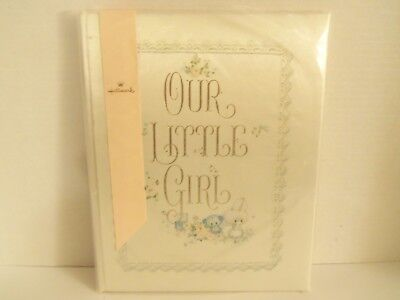 Vintage Hallmark Satin OUR LITTLE GIRL Baby Memory Keepsake Album Book VHTF