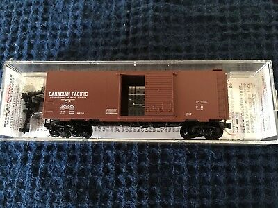 N Scale Micro Train Lines Canadian Pacific 40' Standard Box Car #20136