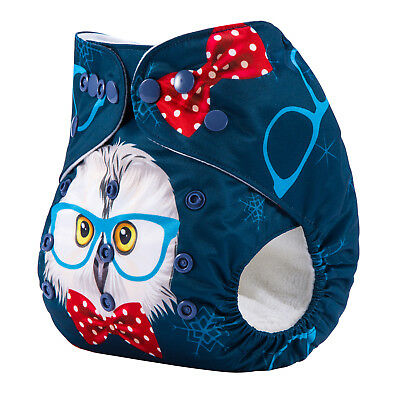 Modern Cloth Nappies Mcn Owl With Bowtie Shell