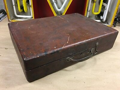Antique Vintage Artist Painter Wood Box Hinged Dovetailed Art Case with tray