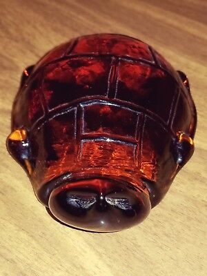 Amber clear glass turtle deco or paperweight
