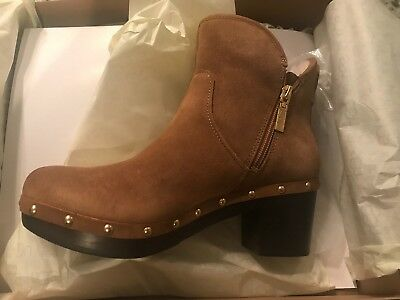 0f40aa815e1 NEW UGG Australia CAM II Ankle Clog Boots 1013599 Chestnut Suede