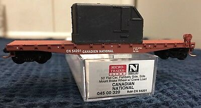 N Scale Micro Train Lines Canadian National 50' Flat Car # 045 00 320