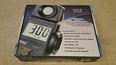NEW OB Pyle PLMT21 Lux Light Meter 20,000 Lux Range W/ 2X Per Second Sampling