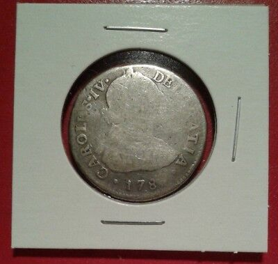 1789 Mexico 2 Reales Spanish Colonial coin quarter equivalent