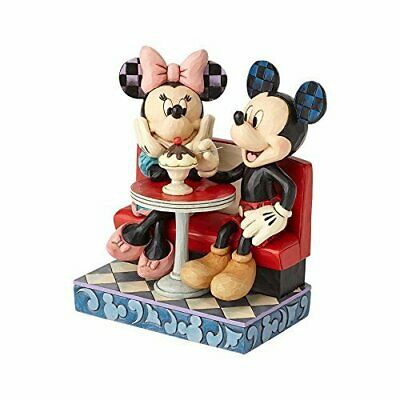 Jim Shore Disney Traditions MICKEY AND MINNIE MOUSE IN SODA SHOP - LOVE COMES...