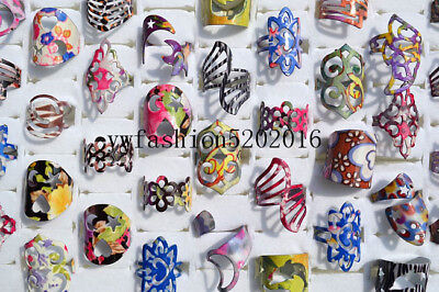 20pcs Wholesale Jewelry Lots Mixed Style Tibet Vintage Silver P Rings Free Ship