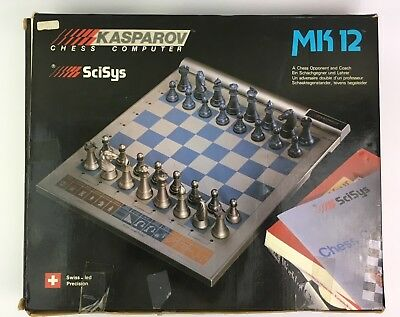 Vintage Kasparov Chess Computer Mark 12 with Chess Opponent and Coach RARE