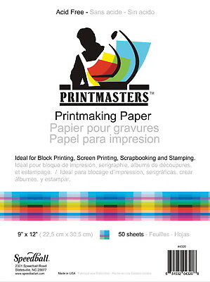 Speedball Print Master Block Printing Paper, 60 lb, 18 X 24 in, Pack of 50