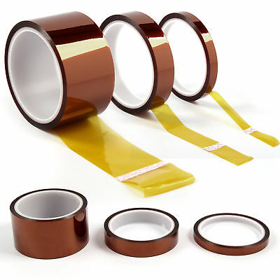 5/10/20/50mm -33m Kapton Tape High Temperature Heat Resistant Polyimide BGA HOME