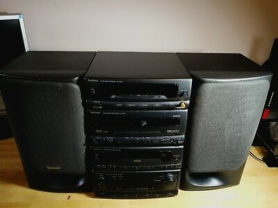 Technics HiFi Stereo System Seperate with CD player twin tape decks and speakers