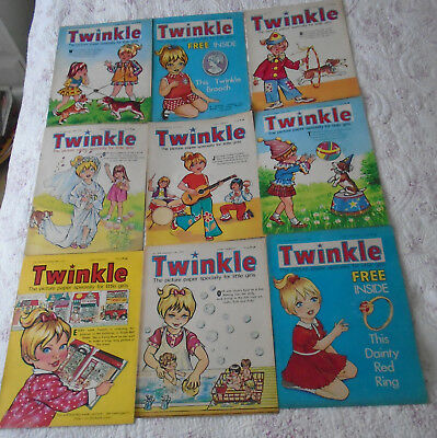 9 Twinkle Comics 1973, Vgc, Bargain!!  Numbers On The Listing
