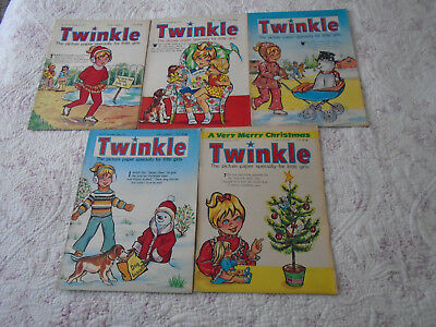 5 Twinkle Comics Whole Of December 1973, Vgc, Bargain!!  Numbers On The Listing