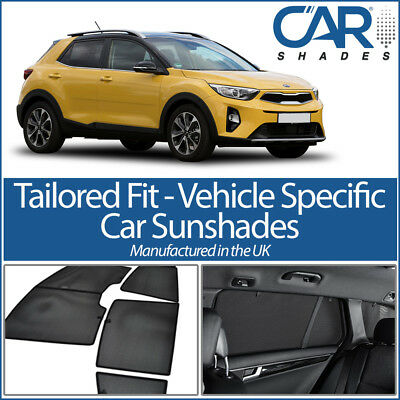 Kia Stonic 5dr 2017 On UV CAR SHADE WINDOW SUN BLINDS PRIVACY GLASS TINT BLACK