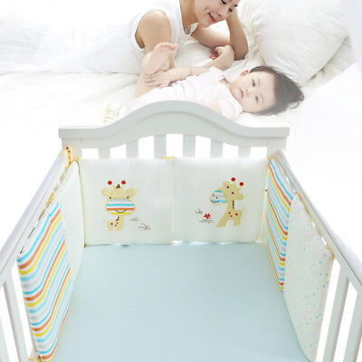 6PC/Set Baby Infant Cot Crib Bumper Safety Protector Toddler Nursery Bedding Pad