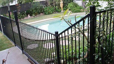 Pool Or Garden Fencing Aluminium Flat Top Black Stock Clearance