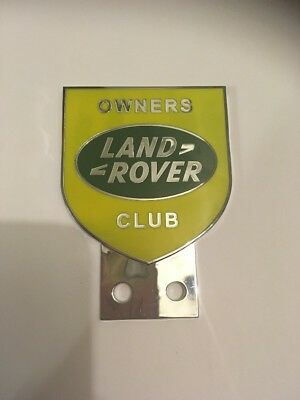 LAND ROVER OWNERS CLUB SERIES 1 2 2a 3 FRONT PANEL METAL BADGE