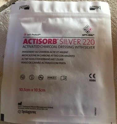 Actisorb silver 220, 3 X 10.5 x 10.5 cm Activated Charcoal Dressing With Silver