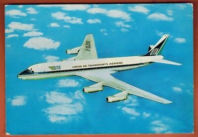 Carte Postale - Aviation - Douglas Super Dc8 - Dans le ciel de France - UTA