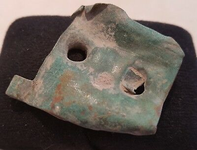 Nice Large Roman bronze buckle plate off saddle straps found in England L32d