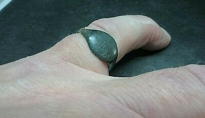 Lovely Roman bronze ring, snapped in one place but could be made wearable L409