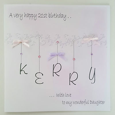 LARGE PERSONALISED 21st BIRTHDAY CARD DAUGHTER 13TH 16TH 18TH 30TH 40TH 50TH