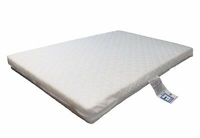 LAURA® Deluxe Eco Airflow Quilted Travel Cot Mattress 95x65cm 7cm Extra Thick