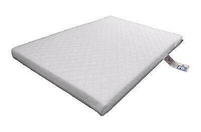 LAURA® Deluxe Eco Airflow Quilted Travel Cot Mattress 95x65cm 5cm Thick