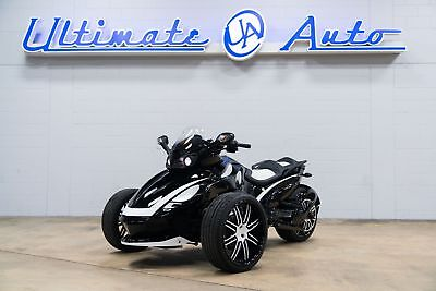 "Can-Am Spyder  Gloss Black/White Paint. 18"" Ride Wright Wheels. Toyo Tires. Two Brothers Exh."