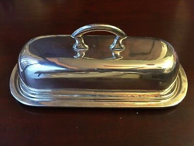 Vintage Solid Sterling Silver Covered Butter Dish Taxco Artist AVA 253g Mexico