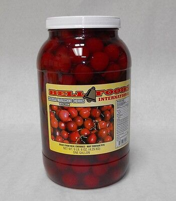 1 GALLON MARASCHINO COCKTAIL CHERRIES with stem HUGE! COLOSSAL  free ship