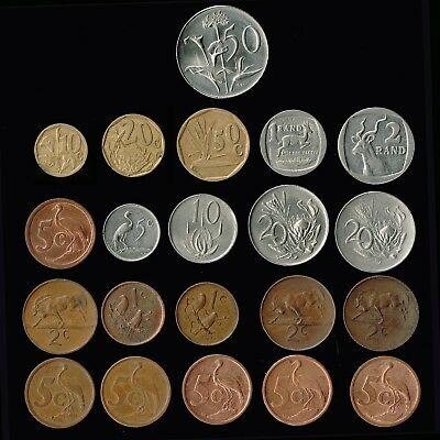 SOUTH AFRICA:- 21 different, Republic post independence minor coins. AP6359