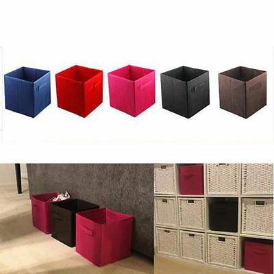 6* Durable Home Storage Bins Organizer Fabric Cube Boxes Basket Drawer  Container