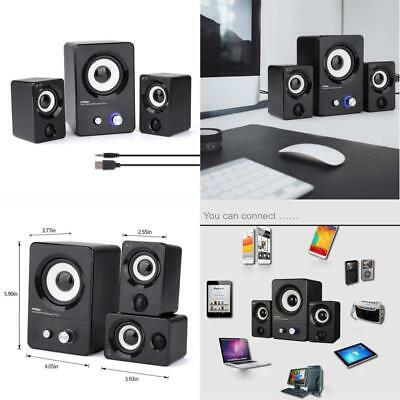 Multimedia Speaker USB Computer System Desktop Laptop Steoreo 2.1 Bass Subwoofer