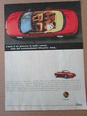 *advertising Pubblicita' Chrysler Stratus Cabrio -- 1998