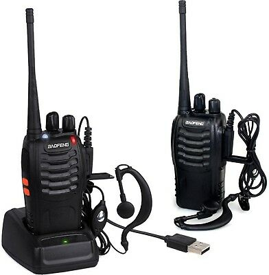 Baofeng 2pcs Walkie Talkie UHF 400-470MHZ 2-Way Radio 16CH 5W BF-888S Long Range