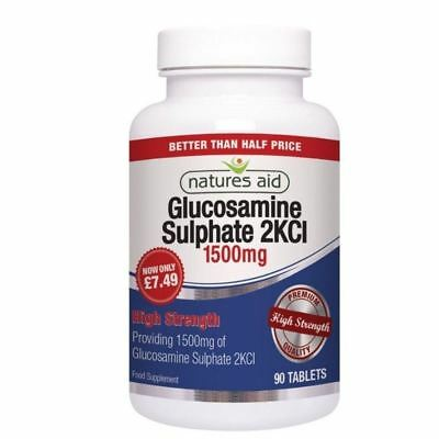 Natures Aid Glucosamine Sulphate 2KCI 1500mg 90 Tablets 1 2 3 6 12 Packs