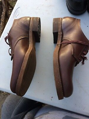 Absolutely Rare 1930s Vintage VUL CORK Leather SHOES Bradford Heel Never Worn!!