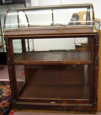 Antique Cigar Display Case Curved Glass Original Condition Jos Knittel Quincy Il