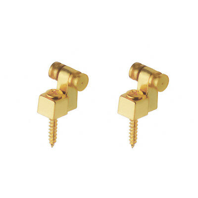 1Pair of Golden Electric Guitar String Retainers Roller String Tree Guide Metal