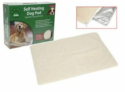 Self Heating Thermal Pet Dog Cat Puppy Pad Bed Rug Washable Mat Warm 64 X 49Cm