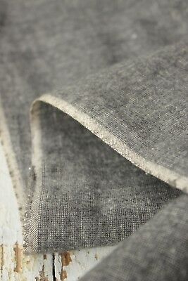 Vintage Gray SOFT brushed cotton material fabric c 1940's clothing woven