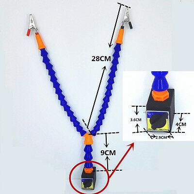 Metalworking Welding Soldering Iron Holder W/ Magnetic Base DIY Third Helper
