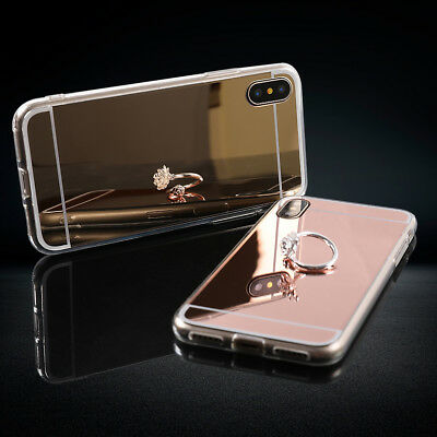 For iPhone X 8 8 PlUS Soft Mirror Case makeup phone case Plating Clear New