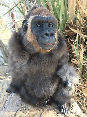 REALISTIC Gorilla Furry Animal * Gift Idea * Zoo Decor * Doll or Fairy Prop/Pal
