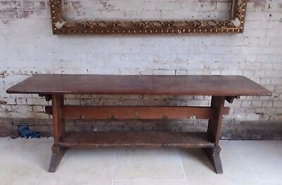 Antique farmhouse kitchen dining console table
