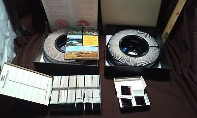 Lot of vintage Kodak 35mm slides with transvue carousel 140 tray Almost 500 slds