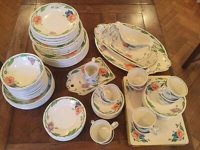 Villeroy And Boch Amapola Complete Dinner Set 90 Pieces All In Good Condition