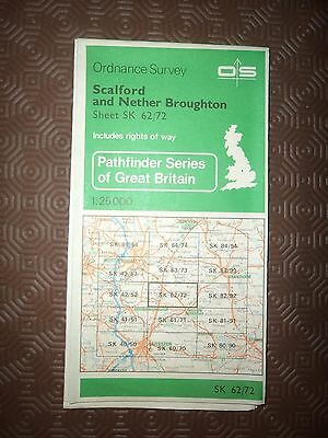 "Ordnance Survey 2.5"" Map SK62/72 Scalford, Nether Broughton 1981 Inc. Wymeswold"